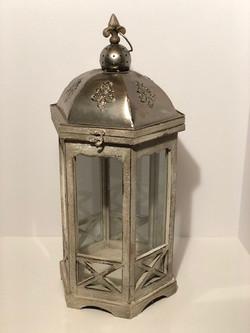 round tin top lantern