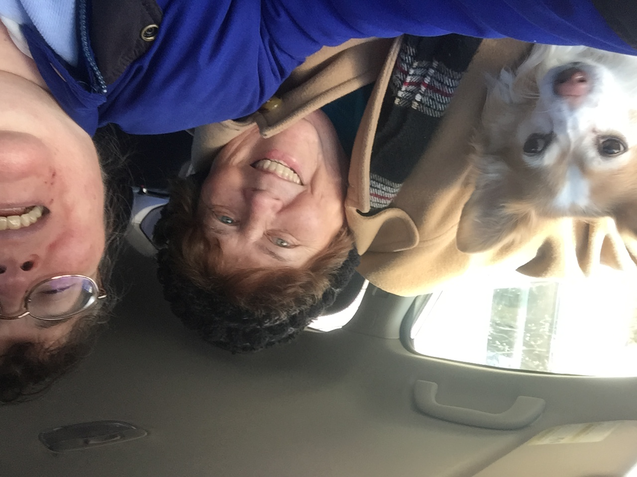 Gramma and Sunny riding along
