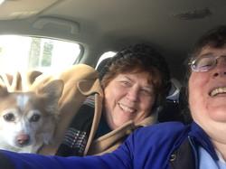 Gramma and Sunny riding along