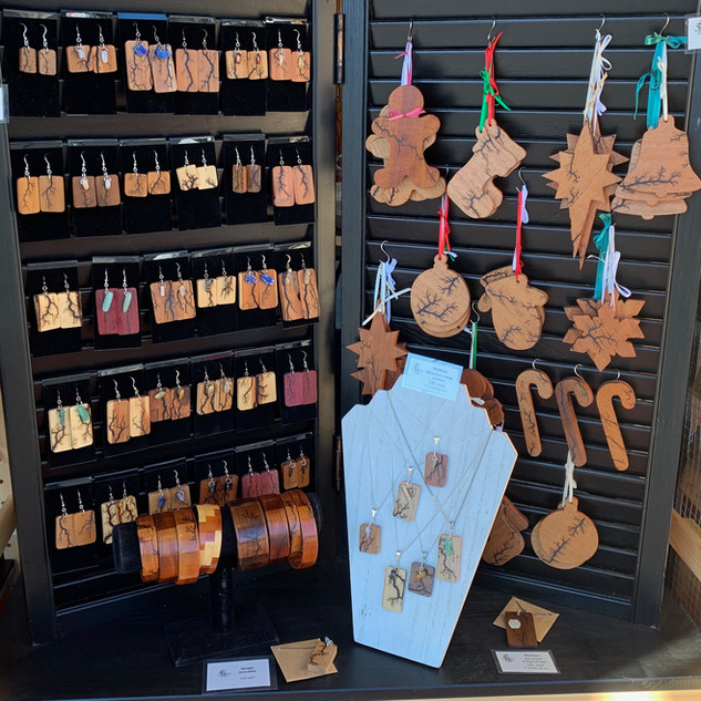 earrings and ornaments