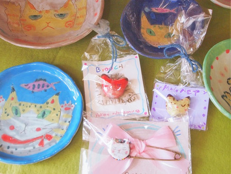 中村陽子さんの小作品展「猫絵声Ⅷ」、今日から!