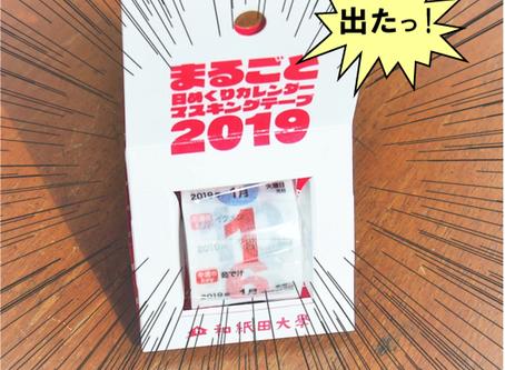 「まるごと日めくりカレンダーマスキングテープ2019」発売中!