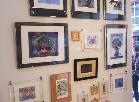 中村陽子さんの小作品展「猫絵声Ⅶ」、今日から開催です
