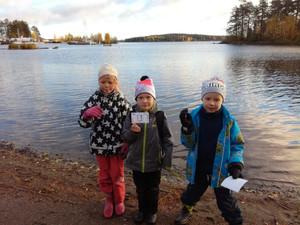 Vesitutkimuksia Kalevalan koulun läheisyydessä, Honkalahden uimarannalla