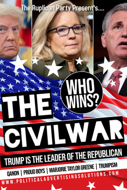 Trumpism Republican Civil Waree Jackson Memorial Poster
