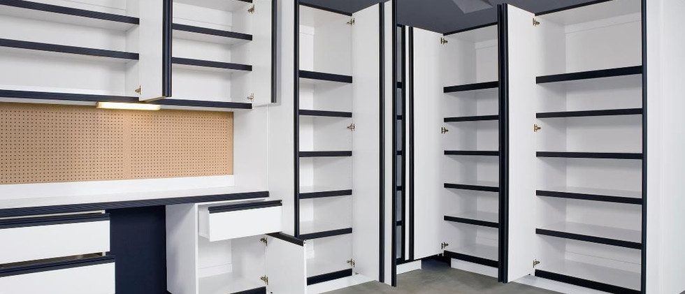 ADD A WORK BENCH WITH YOUR STORAGE SPACE