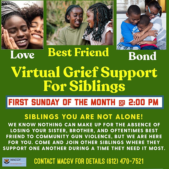 MACGV Virtual Sibling Grief Support Group
