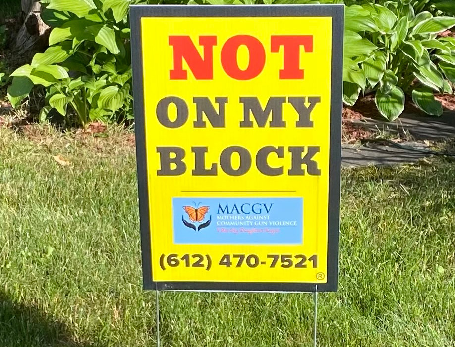 Not On My Block Yard Sign                   (Size 12 X 18)