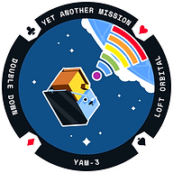 YAM-3 Mission Patch - High Constrast - 1