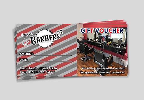 Snippers Barbers - Voucher