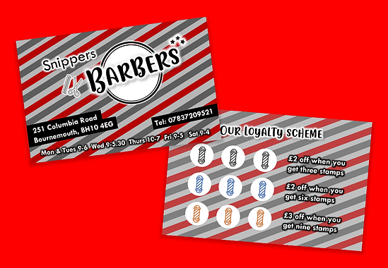 Snippers Barbers - Loyalty Card