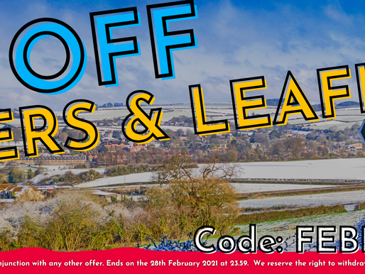 5% off Flyers & Leaflets throughout February helping support you & your business