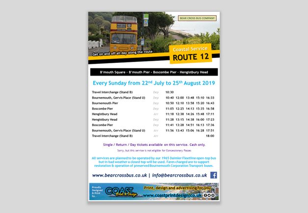 Bear Cross Bus Company - A3 Bus Timetables