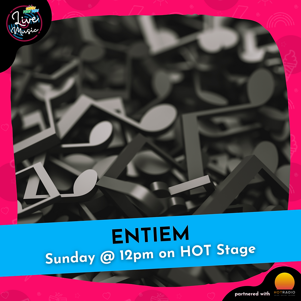 ENTIEM at Family Fest 2021 on Sunday 25th July at 12pm on HOT Stage in Wimborne, Dorset