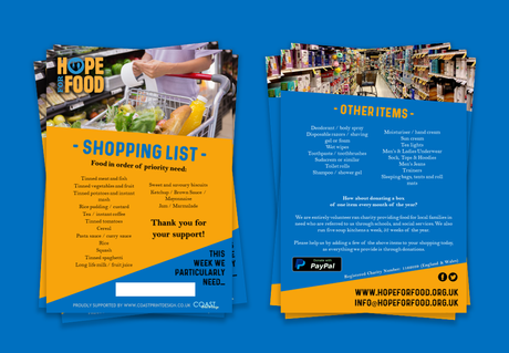 Hope For Food - A5 Flyer