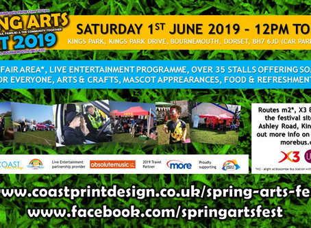 Spring Arts Fest coming to Kings Park, Bournemouth in June 2019