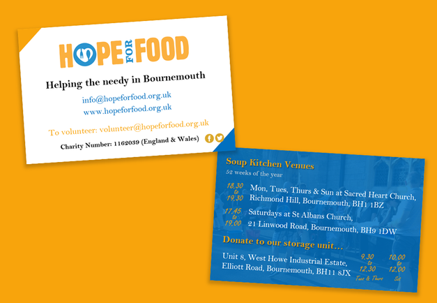 Hope For Food - Business Card