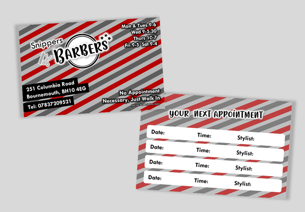 Snippers Barbers - Business Cards