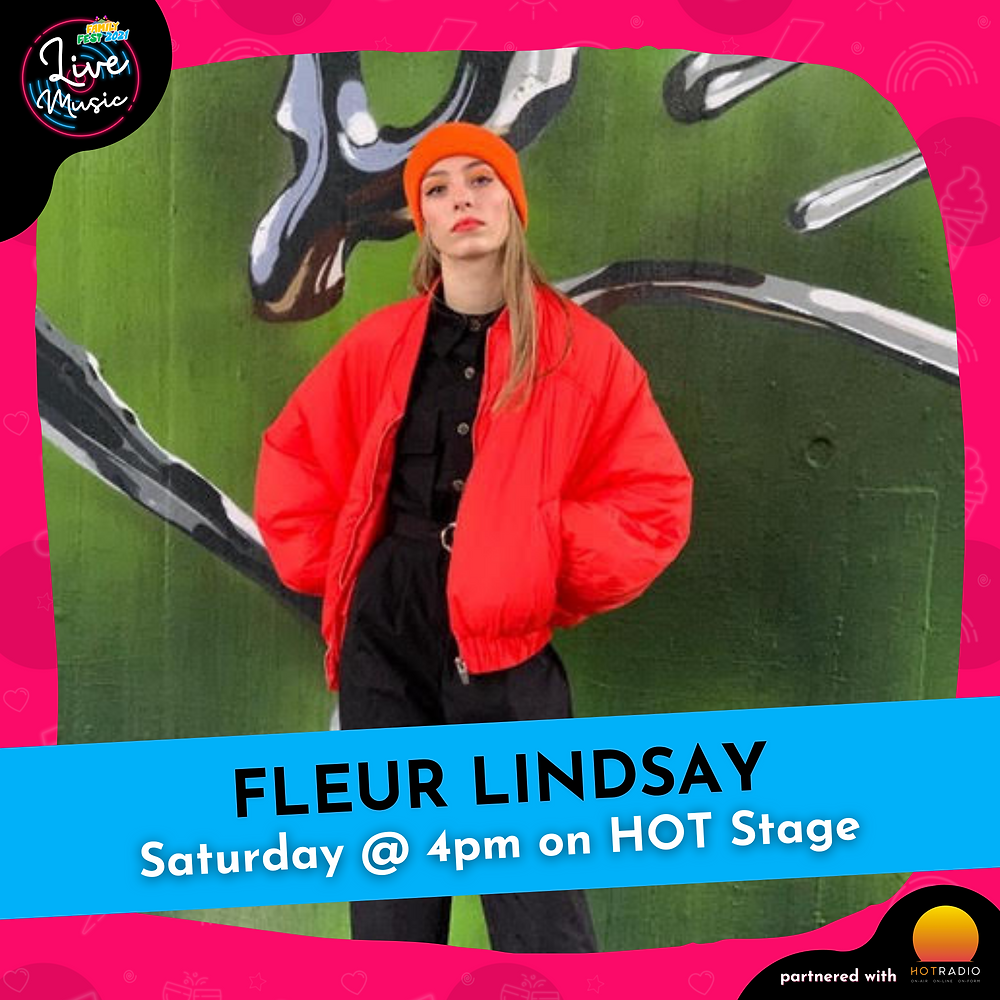 Fleur Lindsay at Family Fest 2021 on Saturday 24th July at 4pm on HOT Stage in Wimborne, Dorset