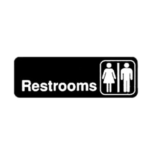 """Restrooms"" Sign"
