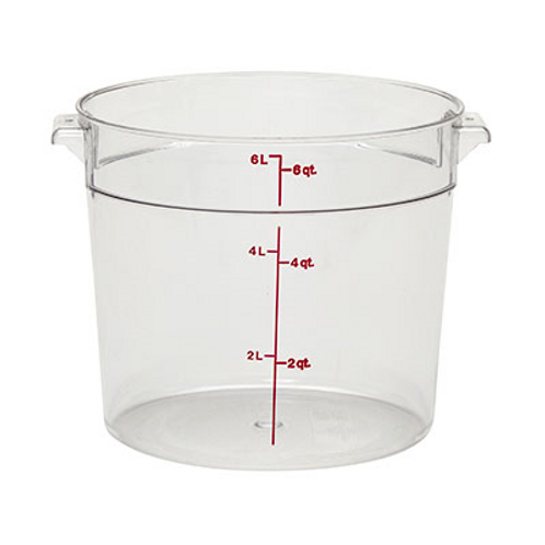 Round Food Container, 6qt
