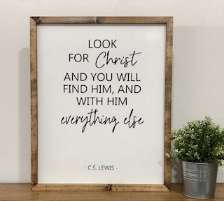 Look for Christ