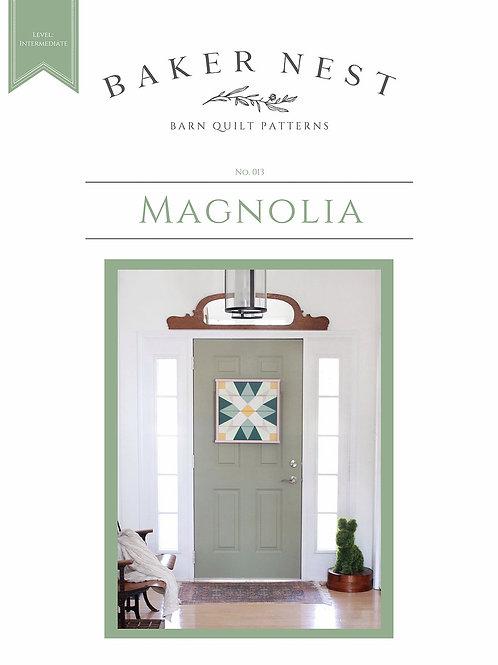 Magnolia Barn Quilt Pattern DIY