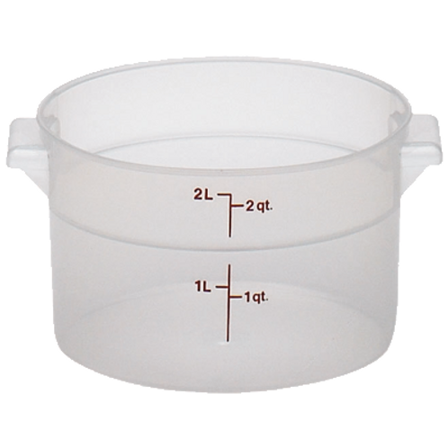 Round Food Container, 2qt