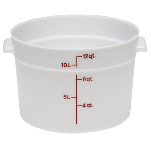 Round Food Container, 12qt