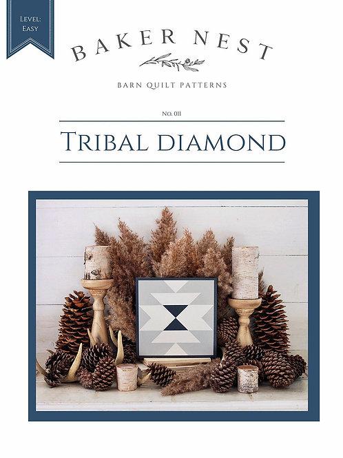 Tribal Diamond Barn Quilt Pattern DIY KIT