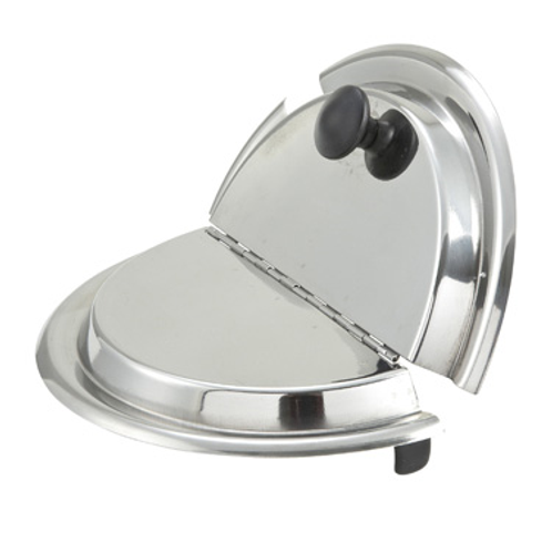 Stainless Steel Hinged Round Lid