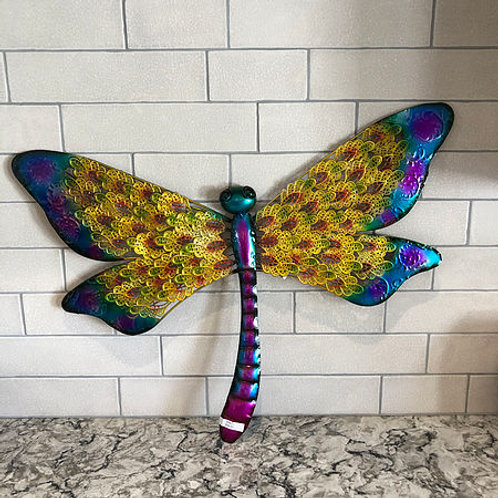 Metal Dragonfly Wall Art