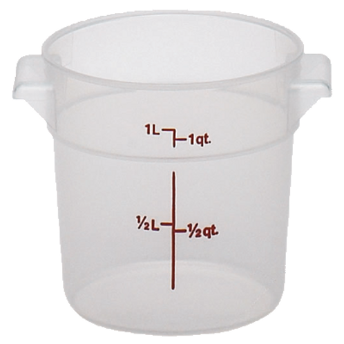 Round Food Container, 1qt