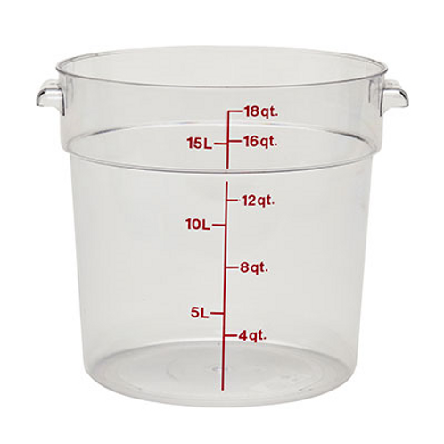 Round Food Container, 18qt