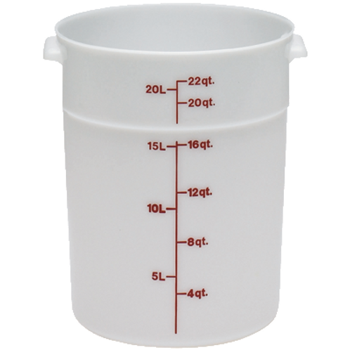 Round Food Container, 22qt