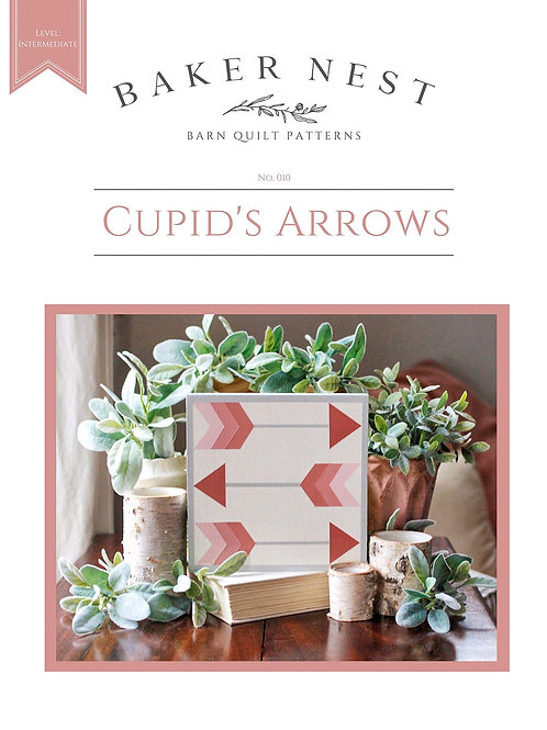 Cupids Arrows Barn Quilt Pattern DIY KIT
