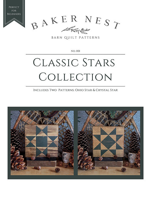 Classic Stars Collection Barn Quilt Pattern DIY KIT