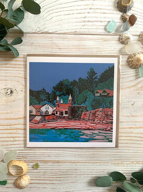 Lino Cut Readymoney Cove Card