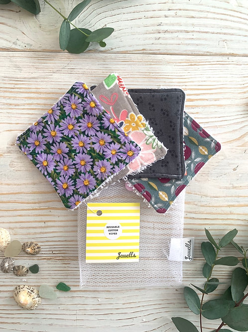 Washable Fabric Face Wipes