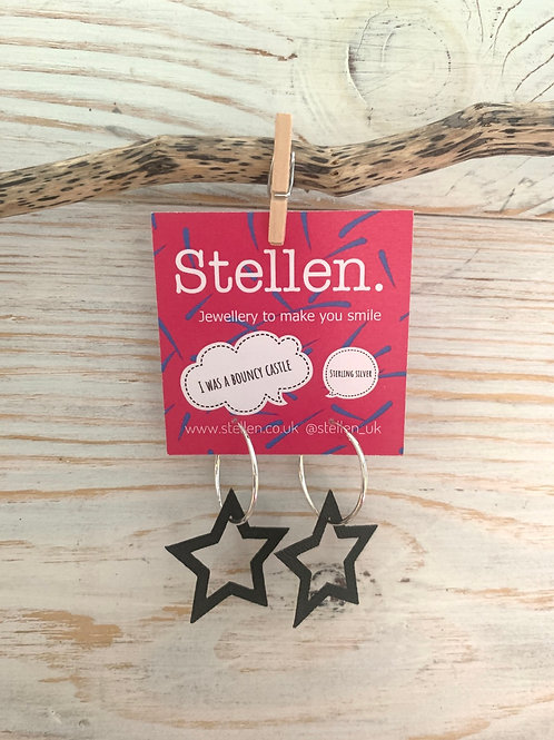 Stellen Earrings with hoops