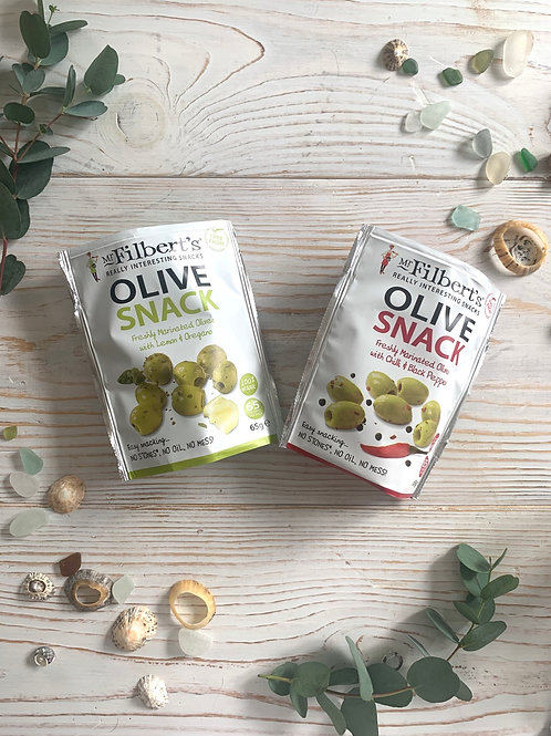 Mr Filberts Olive Snack Packs, 65g