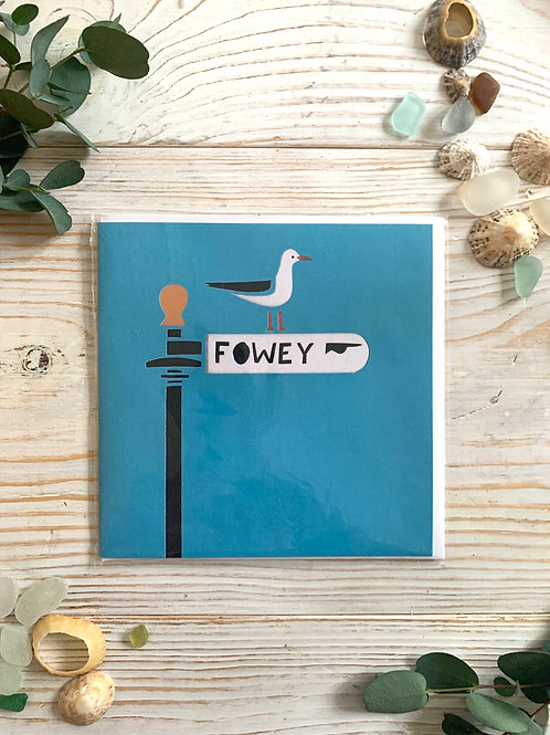Fowey Signpost by Cornish Paper Cut Art