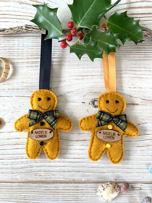 Cornish Gingerbread Man Decoration
