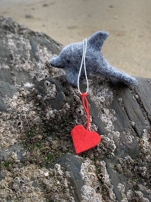 Hand Felted Dolphin