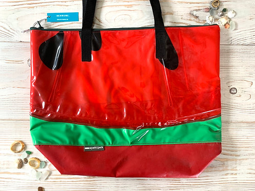 Upcycled Inflatable XL Tote Bag