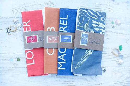 Cornish Fish Tea-towel