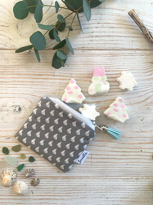 Fabric Zipped Purse