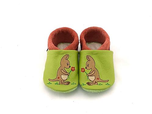 SK Kinderlederschuh Bestickt: Känguru