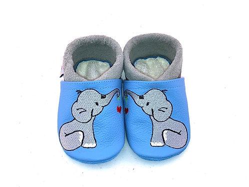 SK Kinderlederschuh Bestickt: Elefant