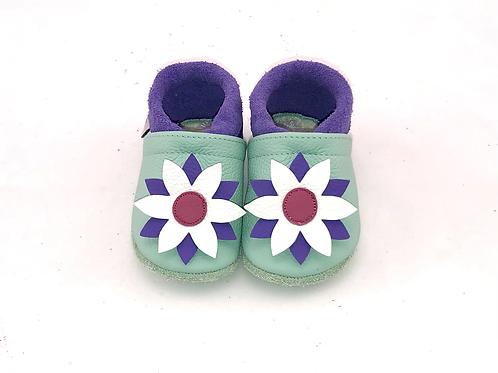 Kinderlederschuh Modell Blumen